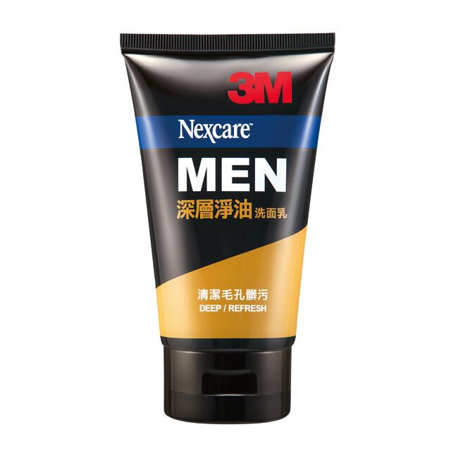 3m nexcare men 男性深層淨油洗面乳 cl04n, 100g