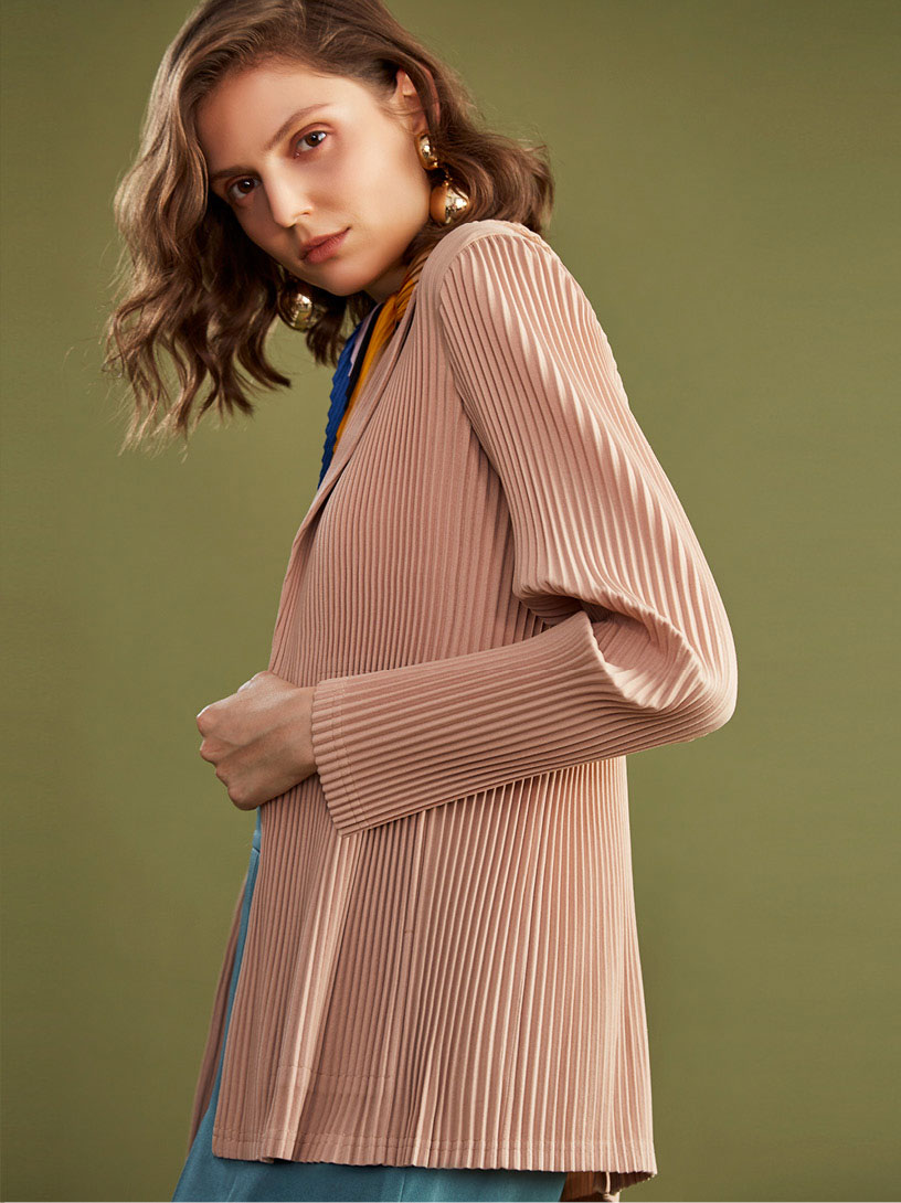 MOMA 壓褶西裝外套