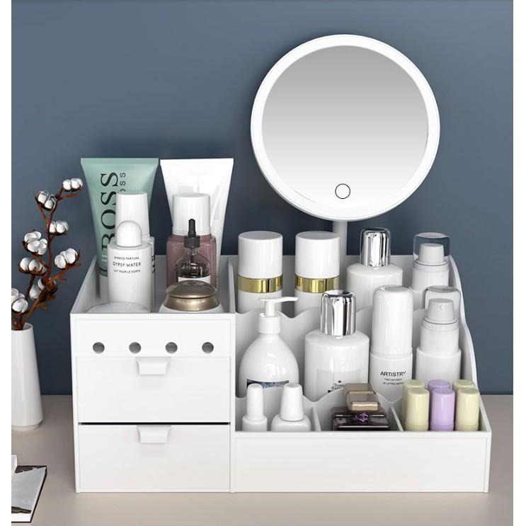 免運 抽屜式化妝品收納盒 塑料面膜口紅置物架 宿舍整理護膚桌面梳妝台 防塵 小清新
