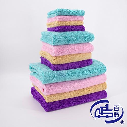 【YourShop】Aqua雪尼爾超乾爽柔膚巾(L號浴巾x4 + M號毛巾x4 + XS號小方巾x6)