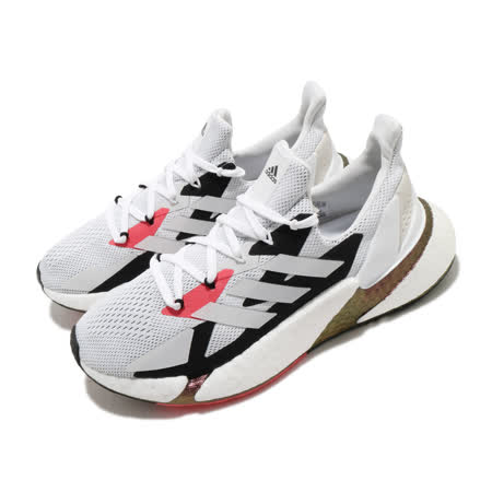 adidas 休閒鞋 X9000L4 襪套式 男女鞋 愛迪達 透氣 網布 球鞋穿搭 情侶鞋 白 紅 FW8388 FW8388