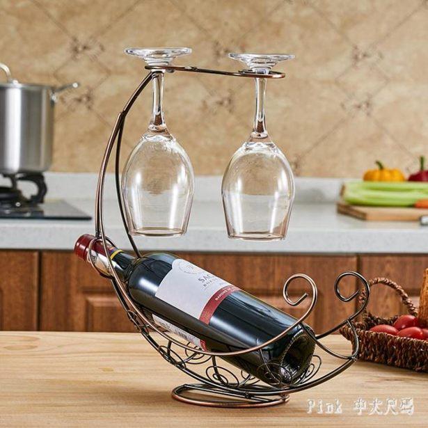 【618購物狂歡節】紅酒架現代簡約酒杯架 歐式創意鐵藝葡萄酒架加粗 qz5500全館促銷限時折扣
