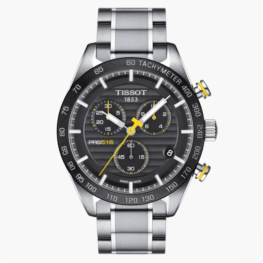 TISSOT天梭 T1004171105100 / PRS516三眼計時石英錶