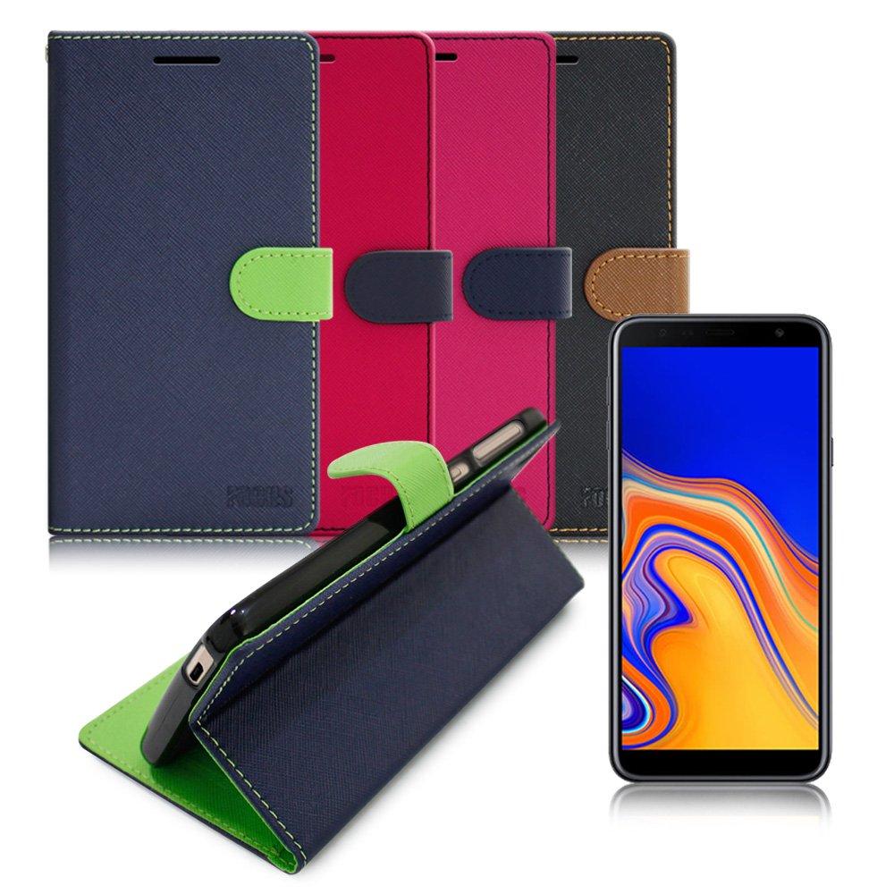【台灣製造】FOCUS for Samsung Galaxy J4+ 糖果繽紛支架皮套