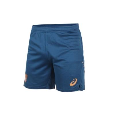 ASICS 男針織短褲-慢跑 路跑 運動 吸濕排汗 三分褲 亞瑟士 2051A248-400 墨藍金
