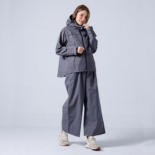 君邁雨衣,背MAX外套兩件式雨衣(搭配寬褲),深灰
