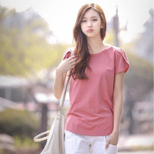【CosmoPINK 粉紅教主】韓版顯瘦圓領花苞袖上衣 THR0004 現貨+預