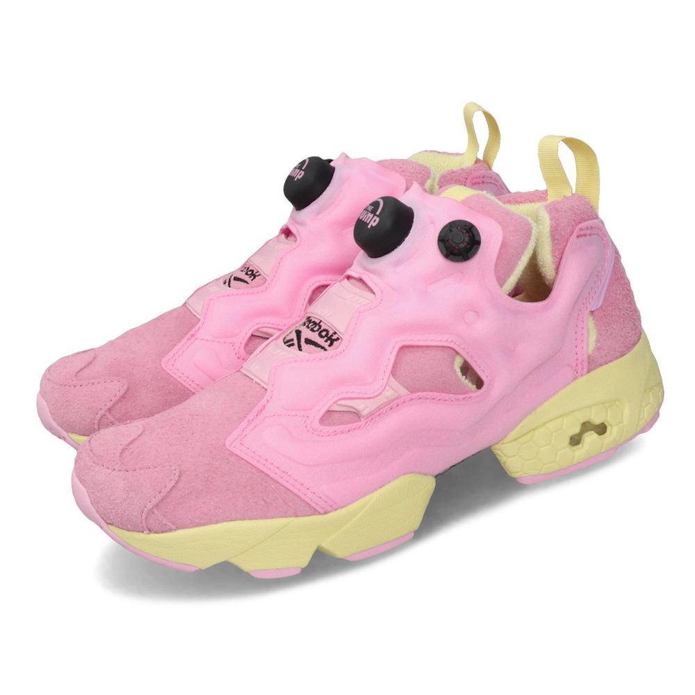 REEBOK 聯名鞋 Pump OG BT21 襪套 女鞋 休閒 COOKY 絨毛 限量 球鞋 粉 黃 [DV9877]