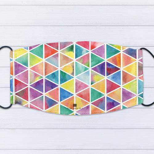 IHERMI 彩繪三角 個性口罩 台灣製