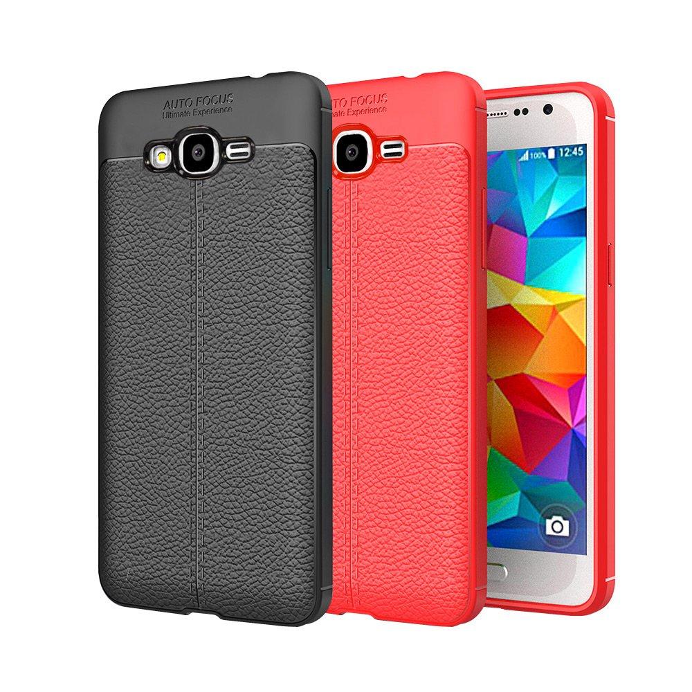 【YANGYI揚邑】Samsung Galaxy J2 Prime 5吋 碳纖維皮革紋軟殼散熱防震抗摔手機殼