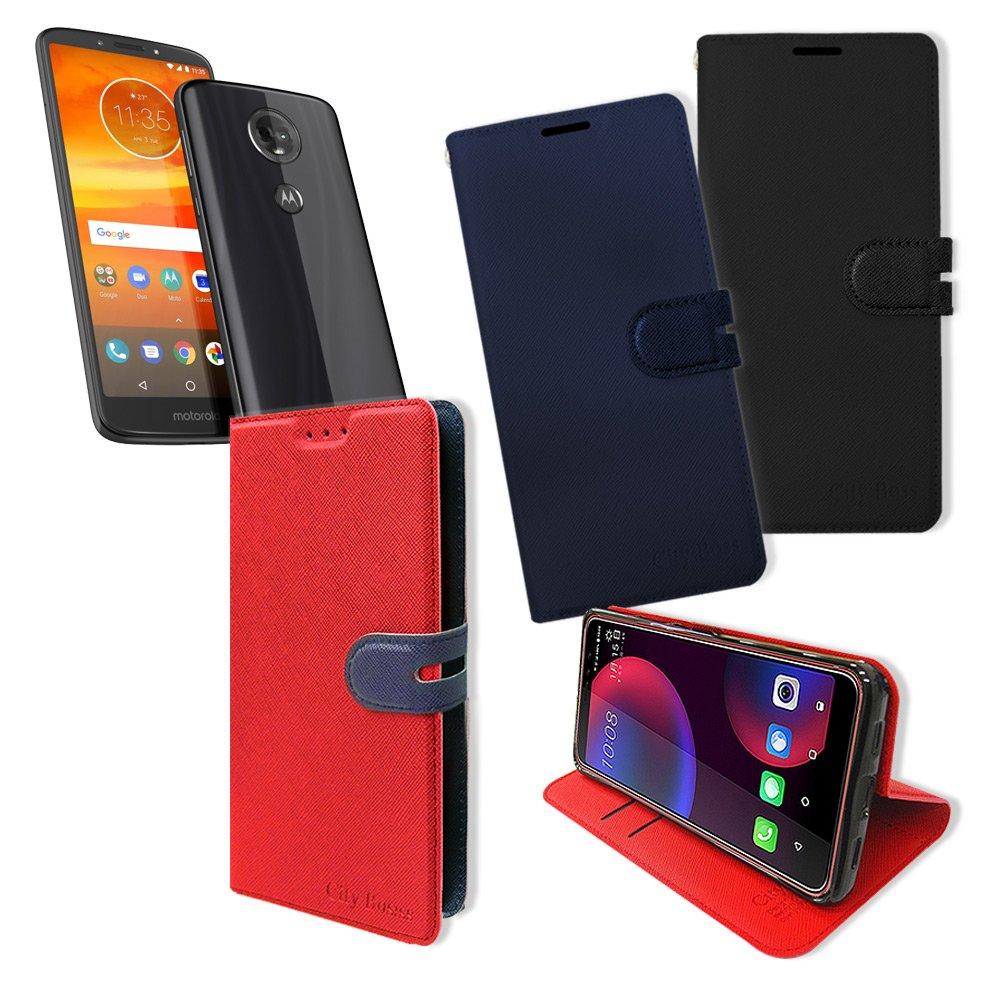 CITY都會風 Motorola Moto E5 Plus / E5+ 插卡立架磁力手機皮套 有吊飾孔