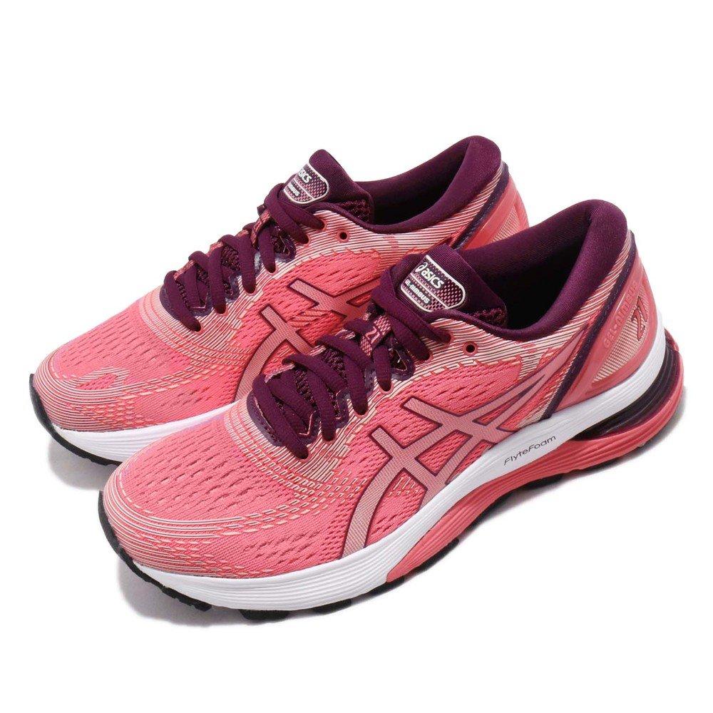 ASICS 慢跑鞋 Gel Nimbus 21 運動 女鞋 亞瑟士 路跑 馬拉松 輕量 緩衝 粉 紫 [1012A156700]