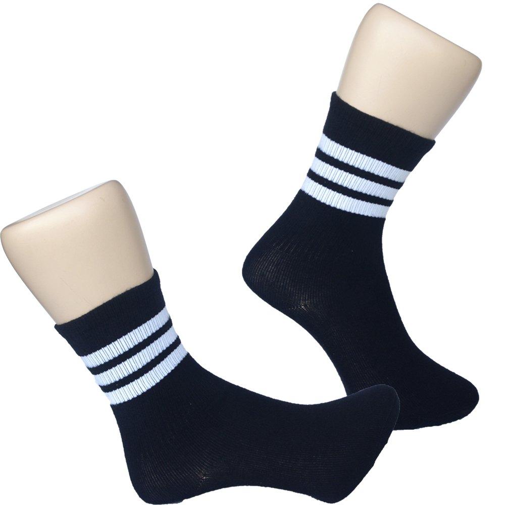 Seraphic 學院風條紋休閒襪4雙組