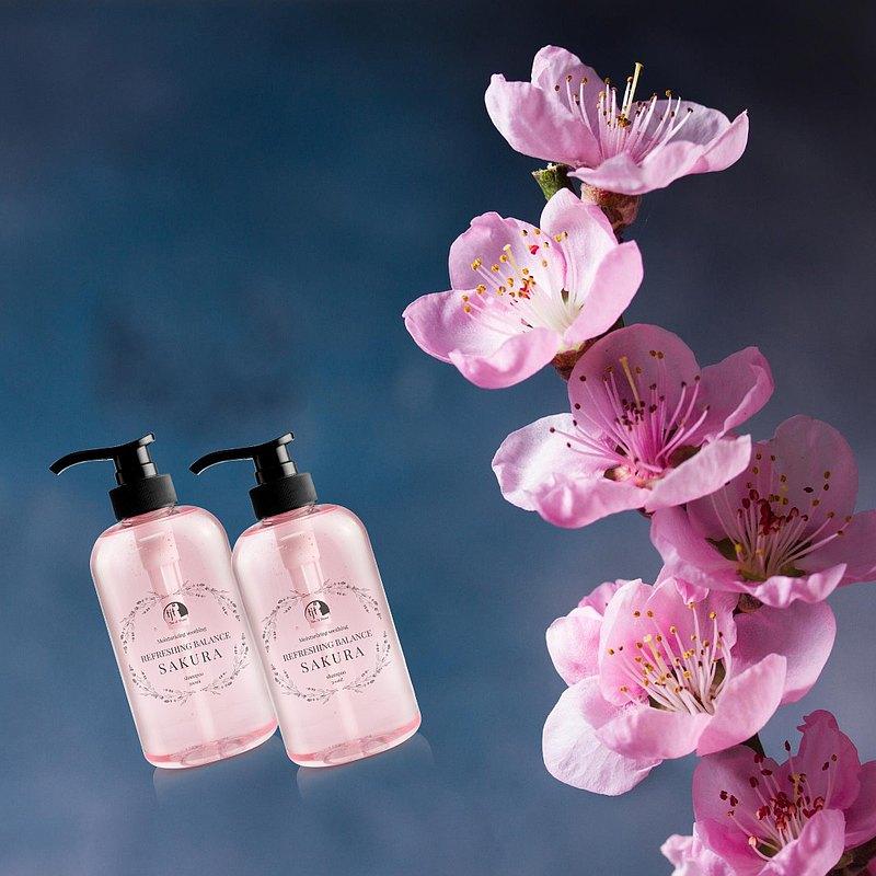 瓷肌萃櫻花潔淨平衡豐盈洗髮晶露 500ml(2瓶/組)