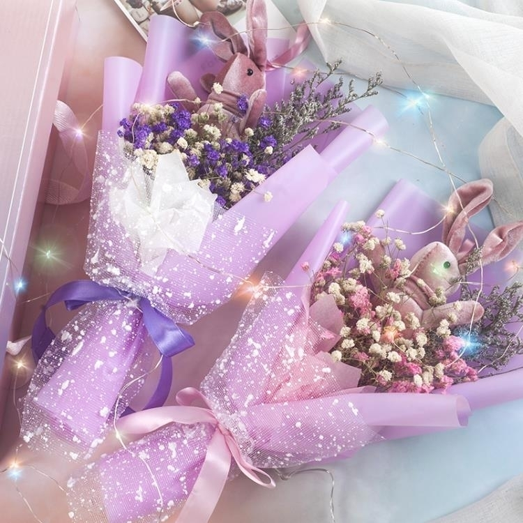 永生花 滿天星干花ins花束禮盒生日禮物永生花送女友閨蜜畢業花束情人節