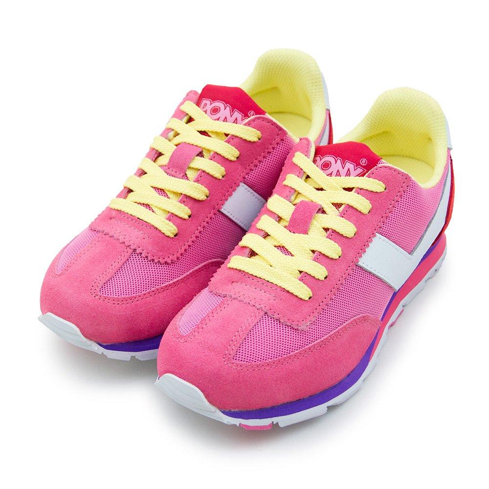 PONY繽紛韓風復古慢跑鞋SOHO冰淇淋系列粉黃紅53W1SO78PM