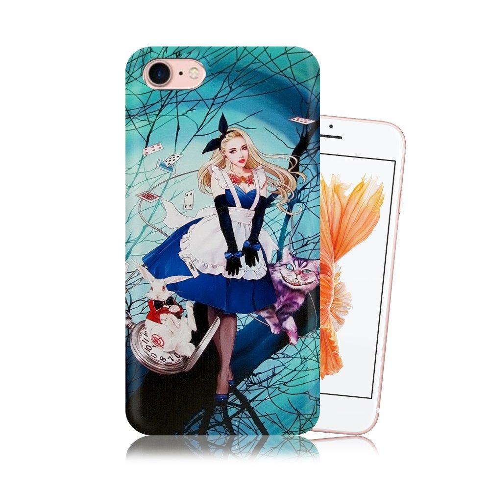 張小白正版授權 iPhone SE2/8/7 4.7吋 共用 古典奇幻插畫 滿版空壓保護殼(愛莉絲) 氣墊殼