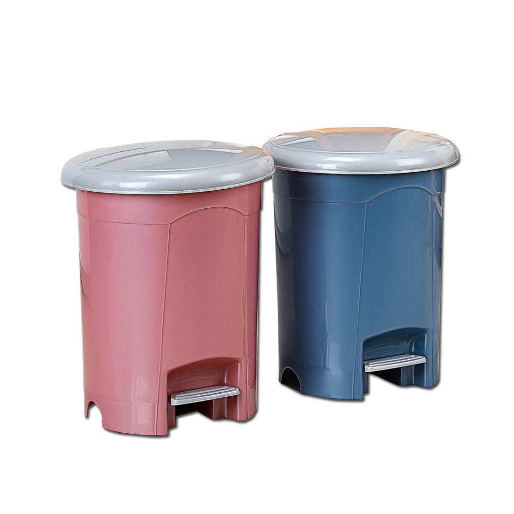 《真心良品》奧羽腳踏式垃圾桶17L-2入組