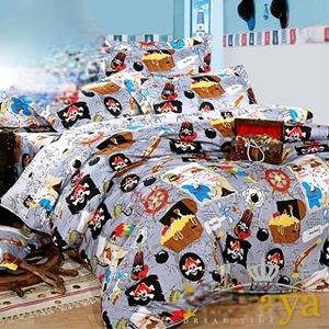 【Novaya‧諾曼亞】《航海寶藏》絲光綿特大雙人三件式床包組