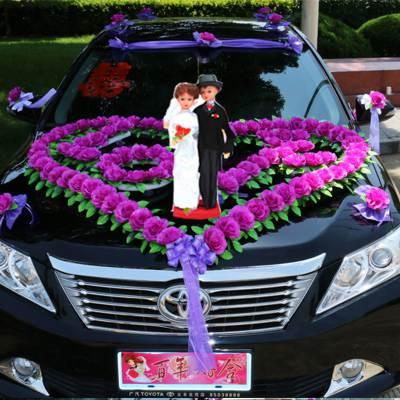 仿真花 婚車裝飾套裝韓式車花婚車鮮車頭裝飾婚車裝飾套裝結婚用品車花 8號店WJ