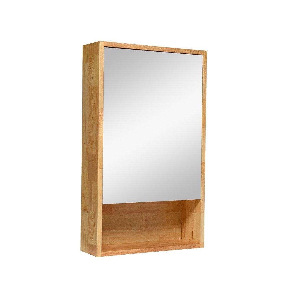 Cozy衛浴 單面鏡櫃 鏡箱 橡木 鄉村風浴室鏡櫃 衛浴化妝鏡 尺寸:寬48*深15*高80cm GR-4880