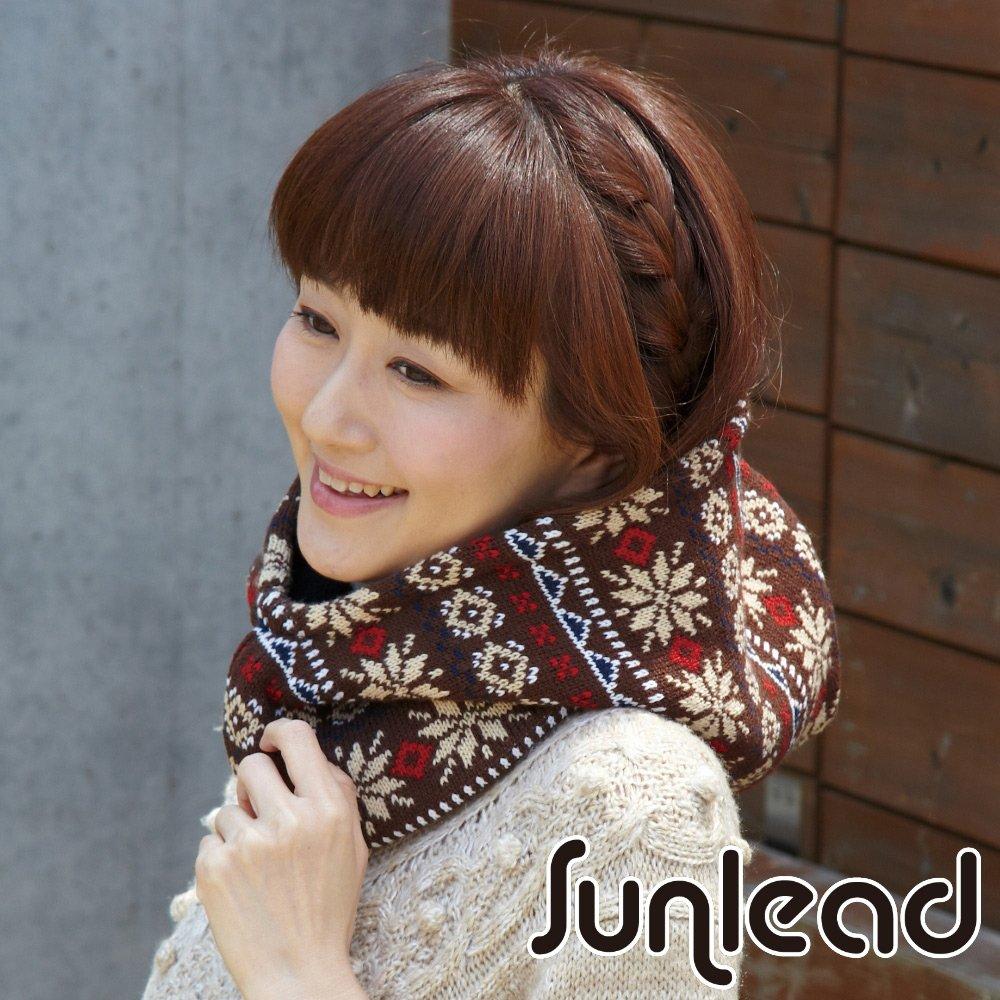 Sunlead 雙面可戴 保暖防風雙層加厚多機能頭套/面罩/脖圍 (暖棕色)