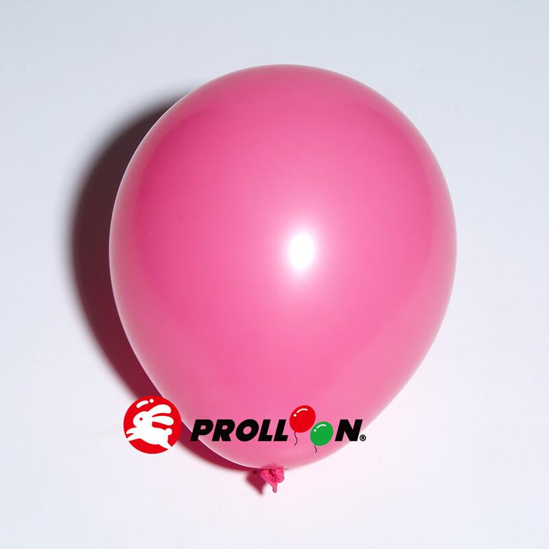 大倫氣球5吋糖果色 圓形氣球 100顆裝  玫瑰紅 台灣製造 安全無毒