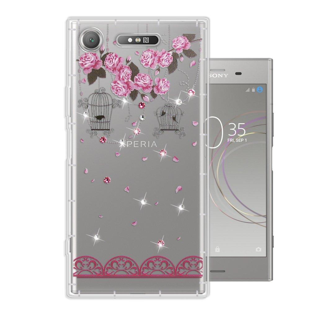SONY Xperia XZ1 奧地利水晶彩繪空壓手機殼(璀璨蕾絲)