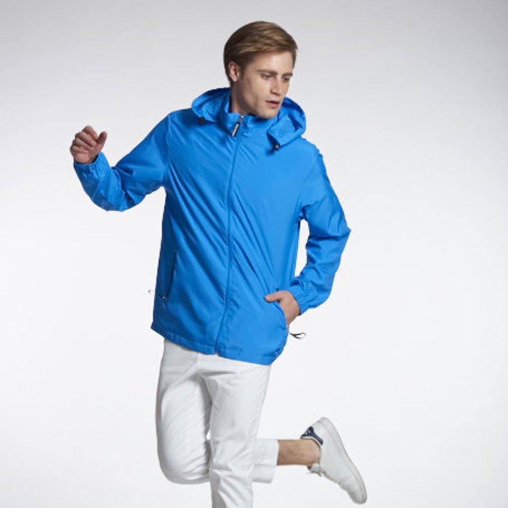 Sunrise 藍色輕薄透氣外套中性款-99327