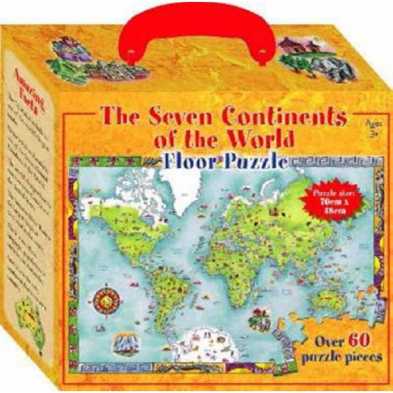 英文原裝 正版地板大拼圖 七大洲The Seven Continents of the World 全新