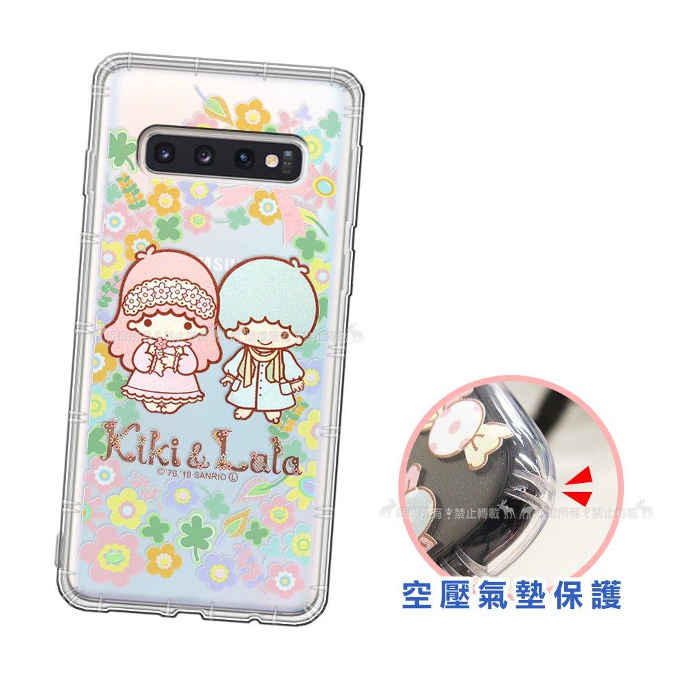 三麗鷗授權 KiKiLaLa雙子星 三星 Samsung Galaxy S10+/S10 Plus 愛心空壓手機殼(鄉村) 有吊飾孔
