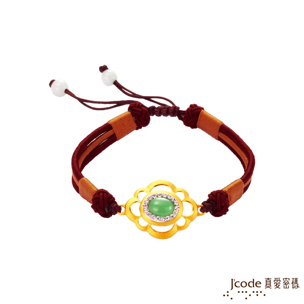 J'code真愛密碼 金玉富貴黃金/純銀中國結手鍊
