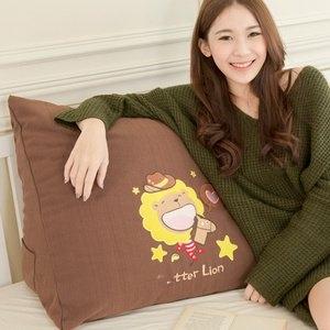【奶油獅】正版授權-100%台灣製造 星星牛仔布套可拆三角靠墊/美腿枕