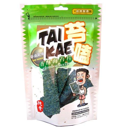 (任選)苔嗑-香酥海苔片(醬燒風味)30g*3包