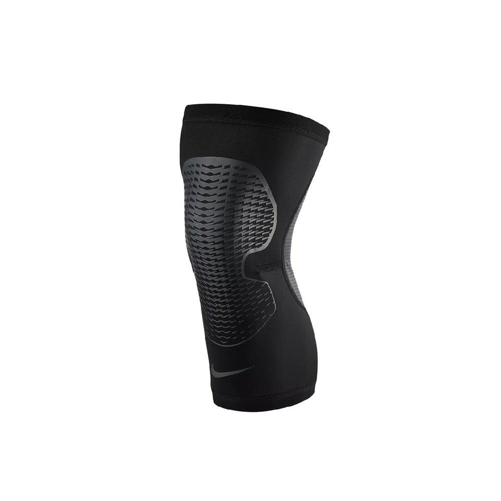 NIKE 護膝 Pro Hyperstrong 男女款 透氣 包覆 運動護具 籃球 單入裝 黑 灰 [NMS82-021]