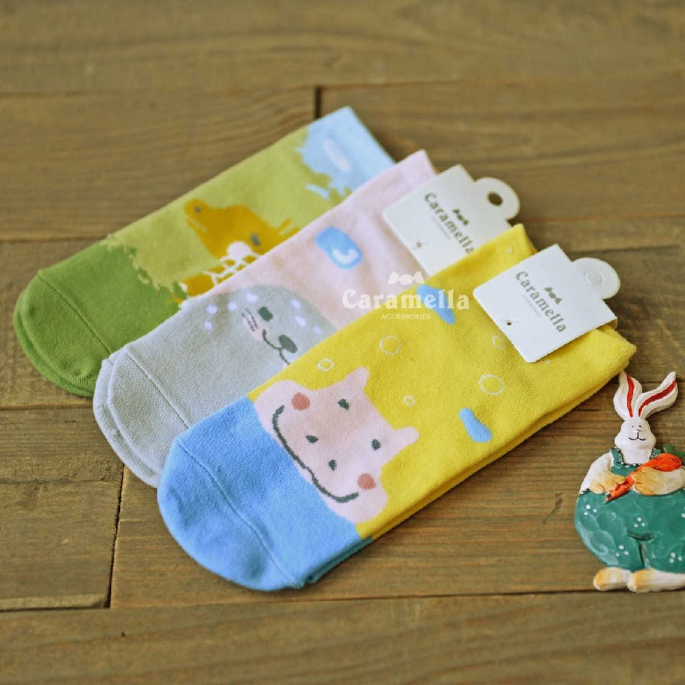 棉襪 卡通船襪 顏色隨機af02140