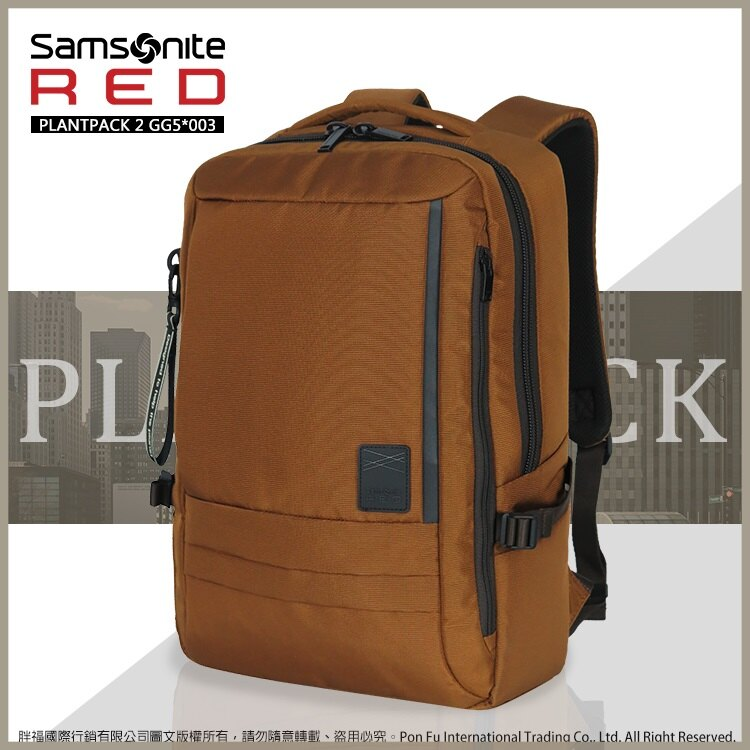 Samsonite 新秀麗 7折 RED 後背包M 大容量 減壓寬版背帶 雙肩包 休閒包 商務電腦包 GG5*003