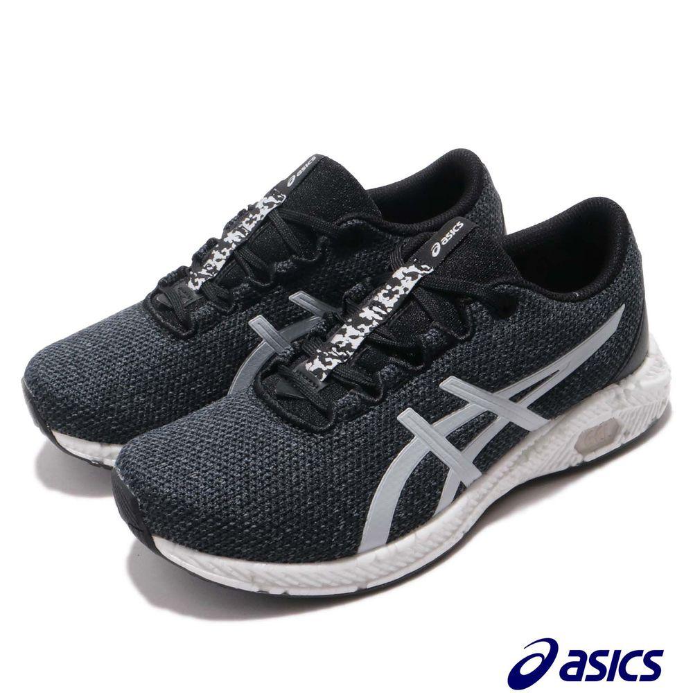ASICS 慢跑鞋 Hyper Gel Yu 運動 女鞋 亞瑟士 潑墨中底 亞瑟膠 透氣 漢字 黑 灰 [1022A056002]