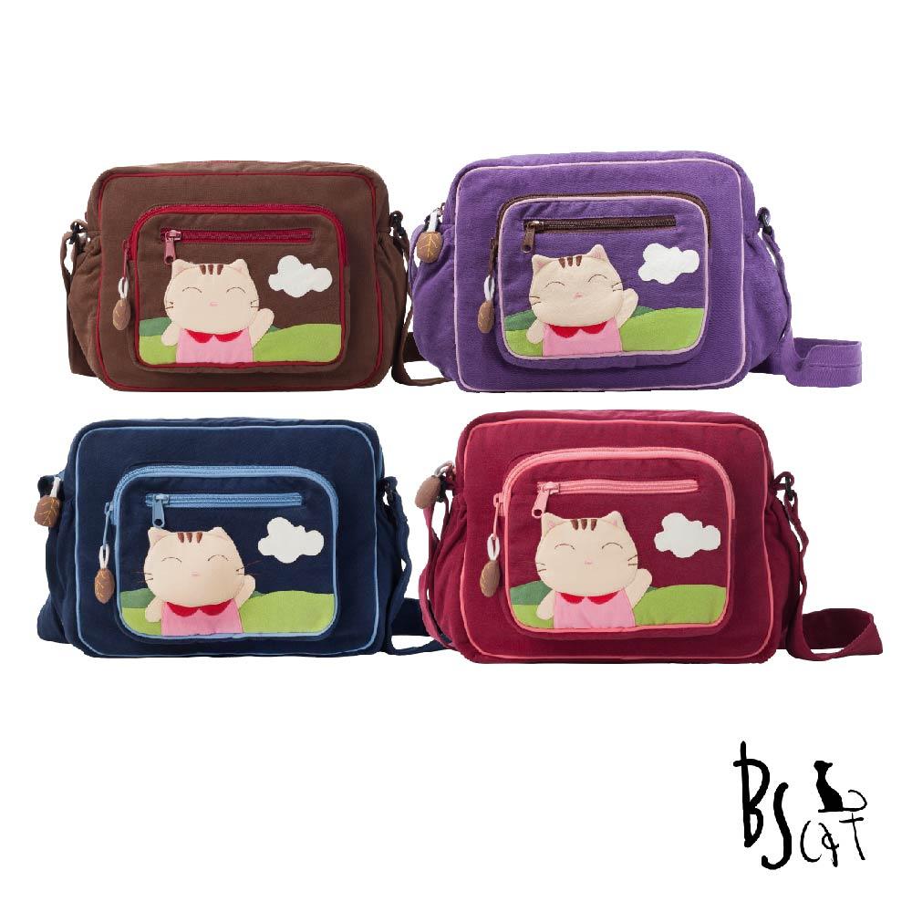 ABS貝斯貓可愛貓咪拼布 肩背包 斜揹包(多色任選)88-203