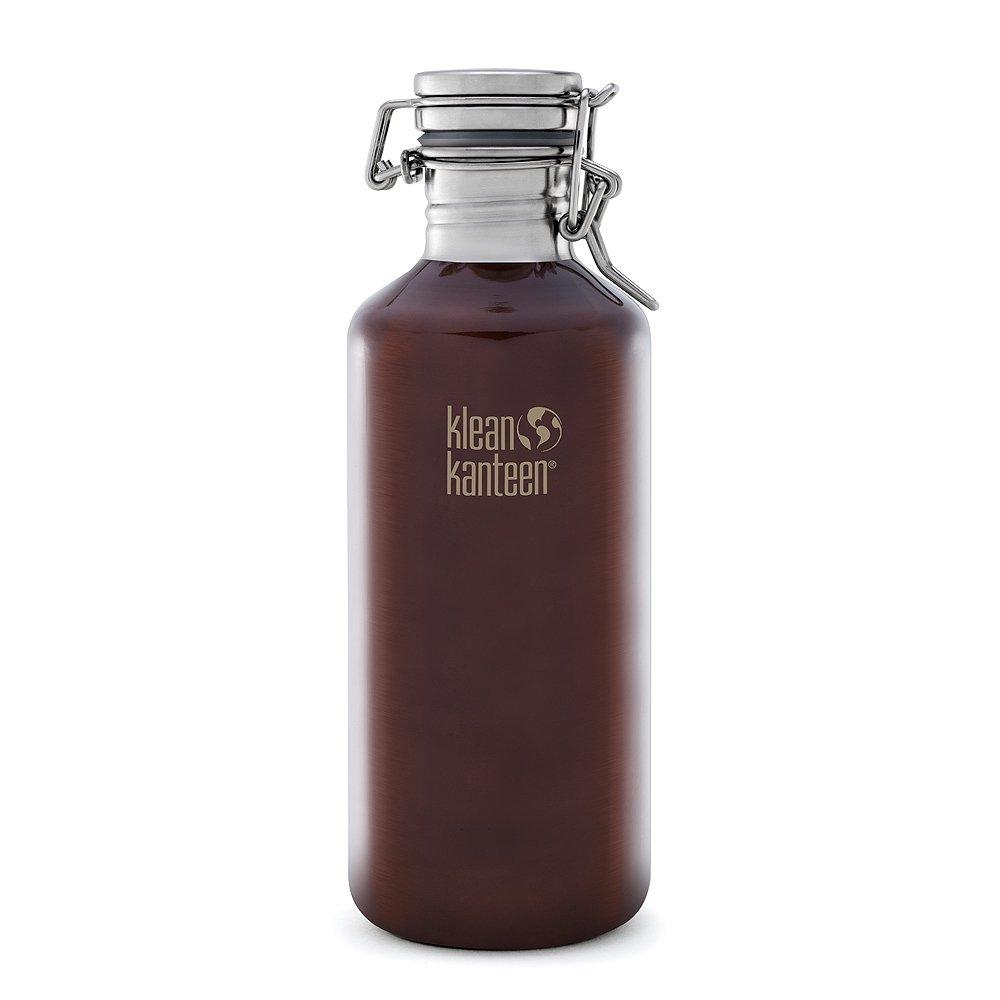 美國Klean Kanteen快扣不鏽鋼冷水瓶1182ml-深琥珀