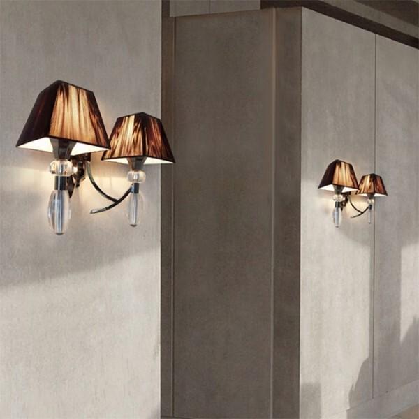 18park-紗舞璃壁燈-2色 [布罩:黑/燈體:珍珠黑,全電壓]
