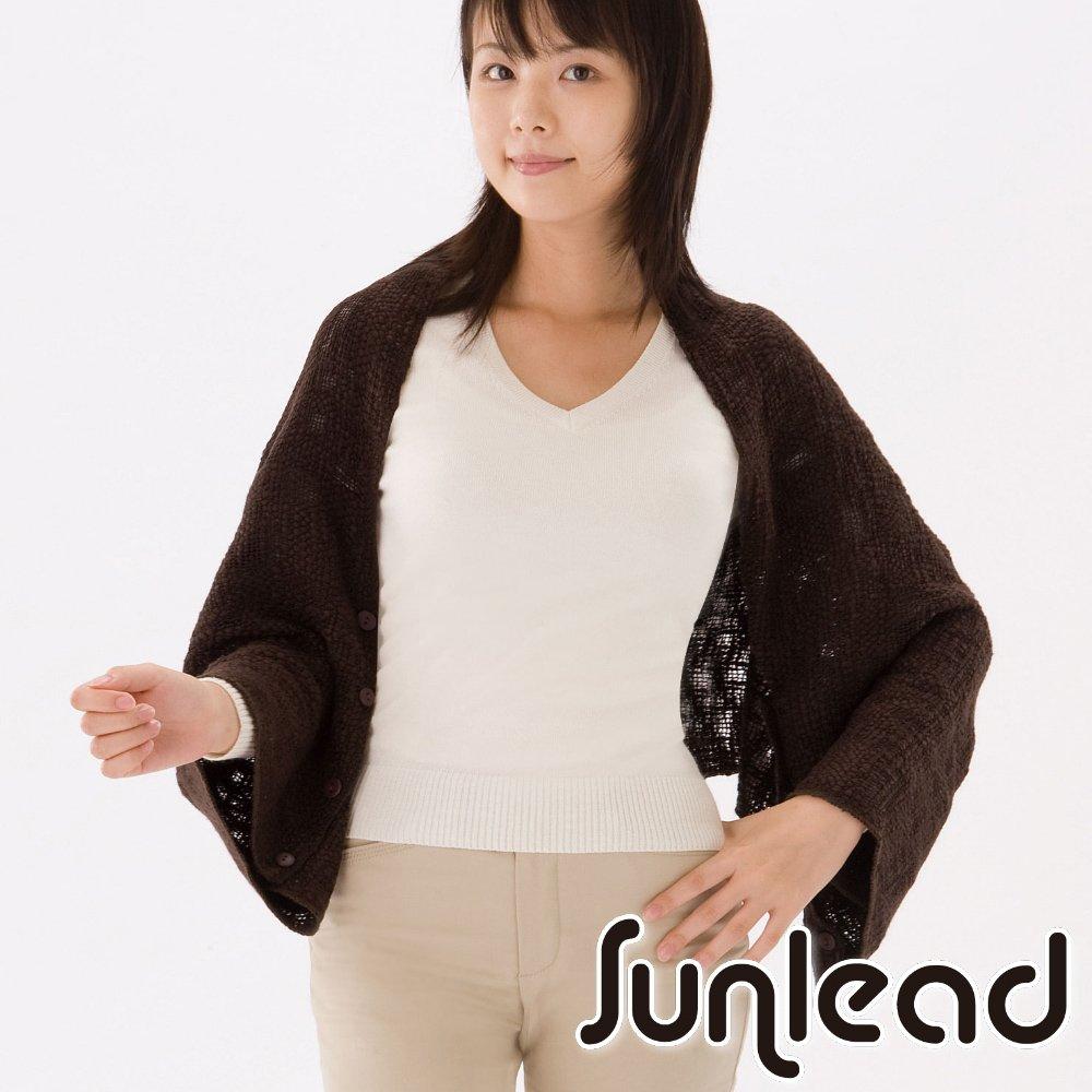 Sunlead 四用式。日系多機能防寒披肩/圍巾/罩杉 (咖啡色)