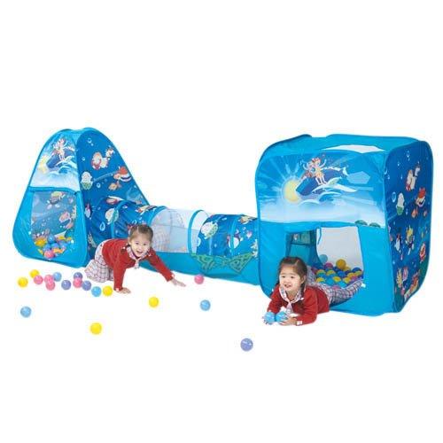 【孩子國】豪華隧道式三角+方形帳篷遊戲球屋組送100球