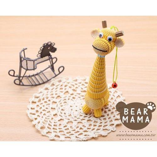 j4-12-49 小蛋捲娃娃-長頸鹿  材料包 小熊媽媽