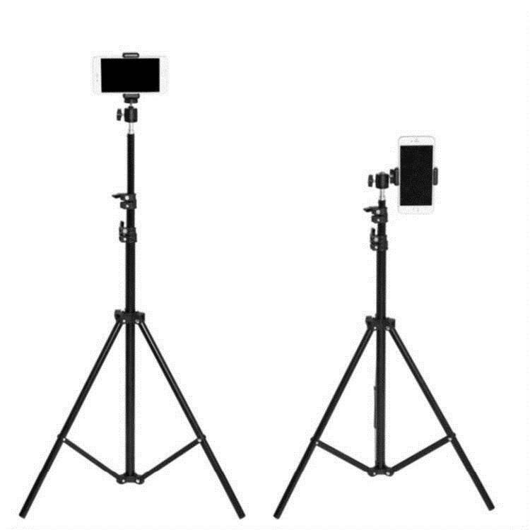 手機三腳架帶補光燈自拍兩用主播支撐加長桿藍芽運動加粗創意移動