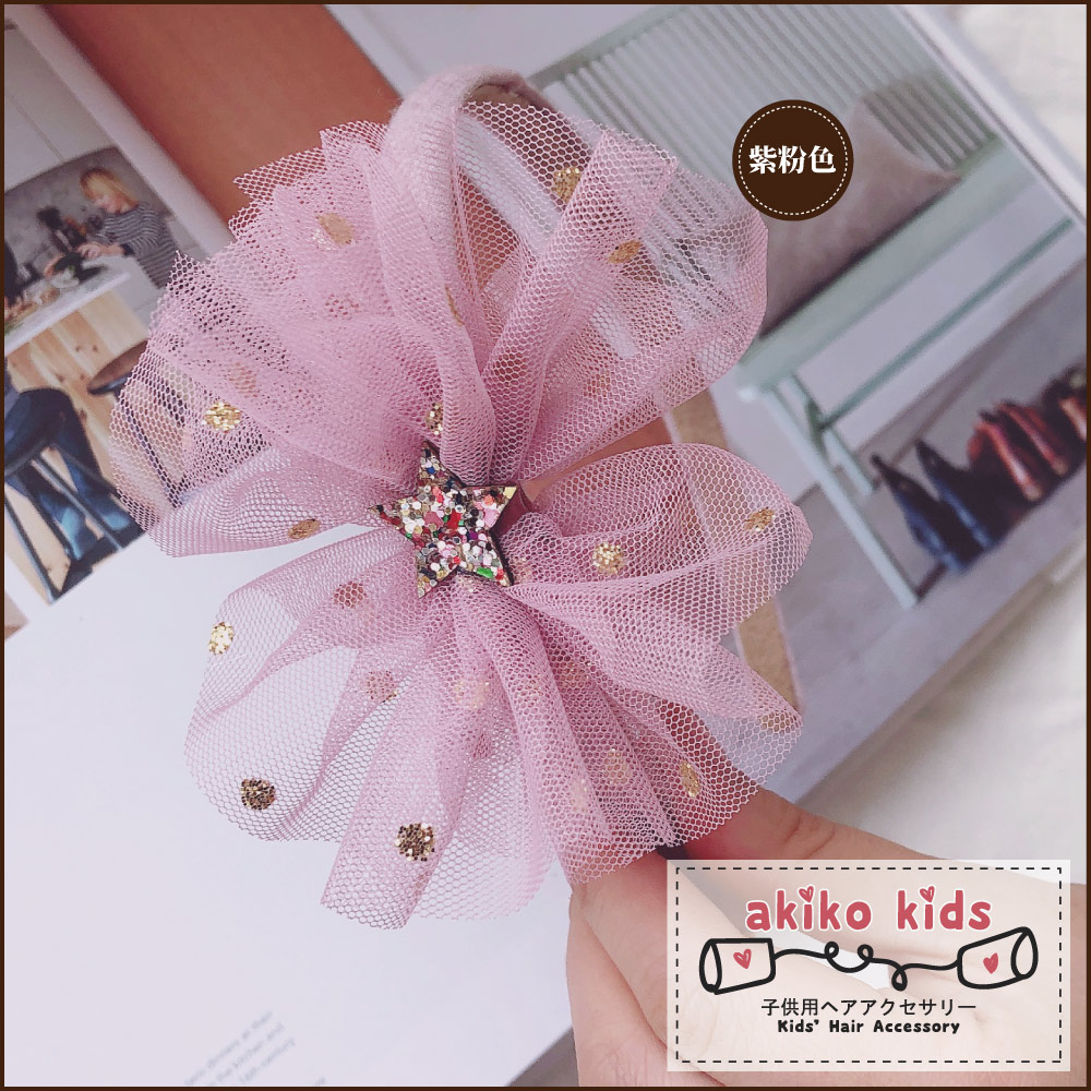 【akiko kids】日本公主網沙多層立體大花造型兒童髮髮箍