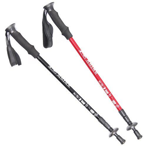 RHINO 犀牛7075鋁合金登山杖-黑色/紅色(特惠2入組)
