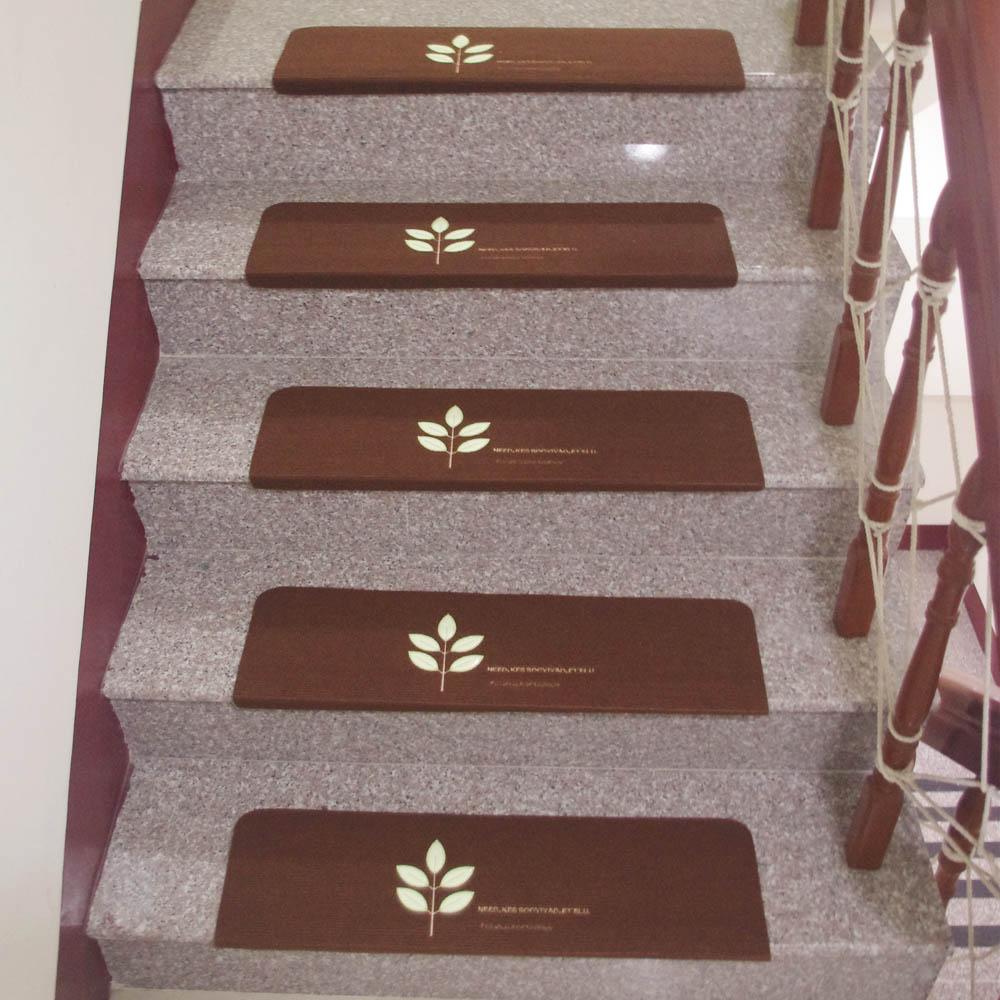 全方位樓梯安全防滑地墊/靜音墊超值三片組(加長夜光版)
