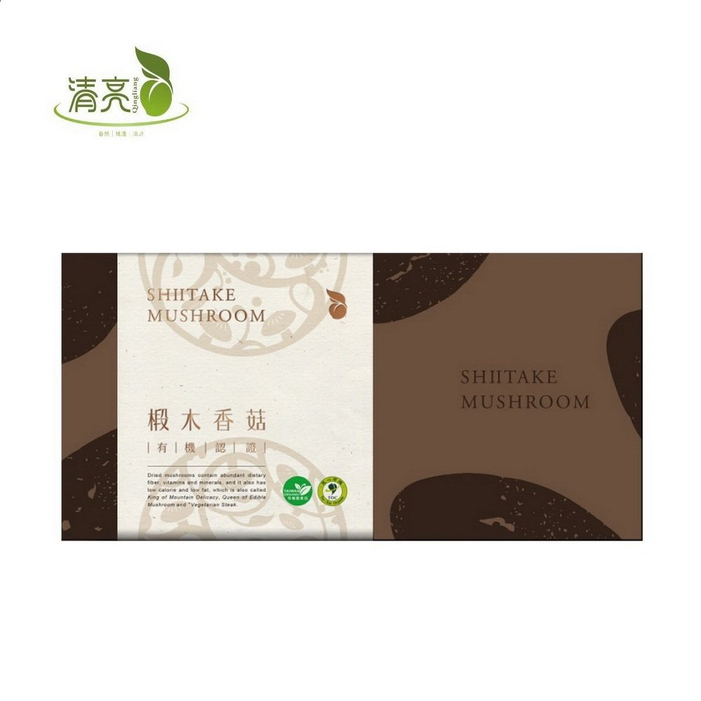 (任選)【清亮生態農場】有機椴木香菇-100g/盒