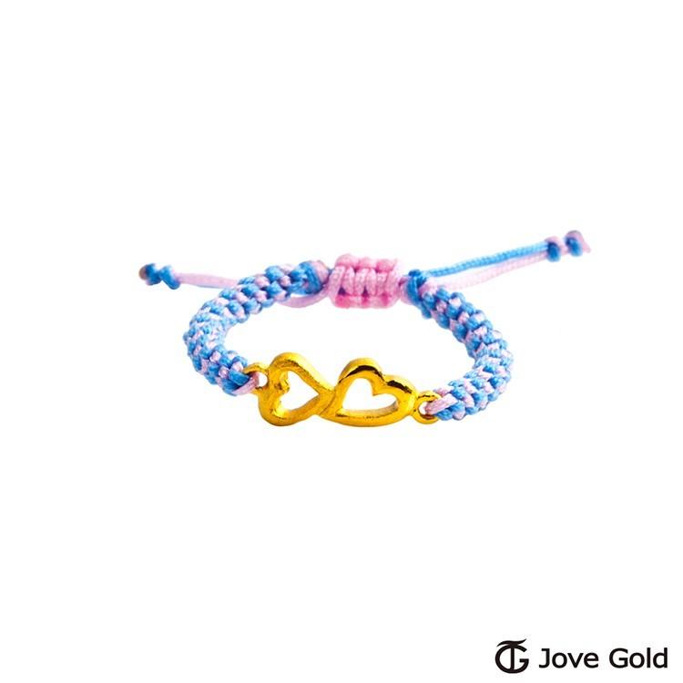 jove gold 心扣心黃金編織繩戒指現貨+預購